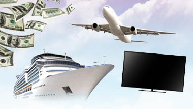 Sky, money and cruise ship